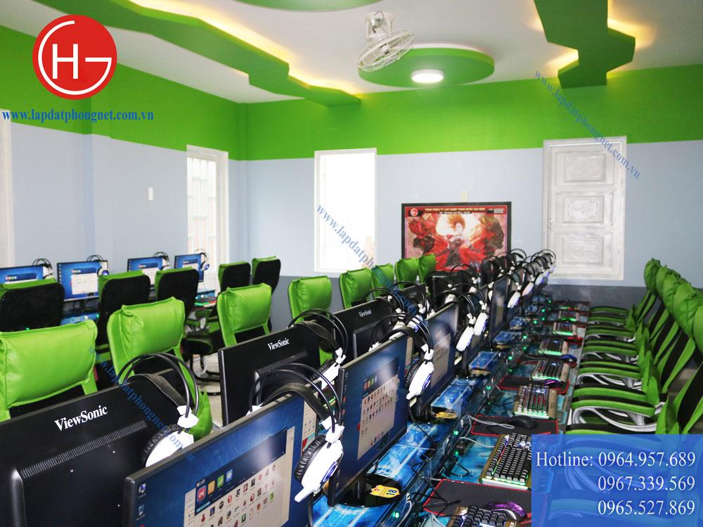 Mẫu phòng game net tông màu xanh sang trọng, đẳng cấp - 07
